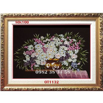 Tranh Thêu Hoa Cúc OT 1132