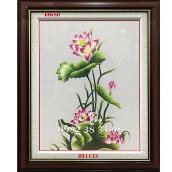 Tranh Thêu Hoa Sen OT 1133