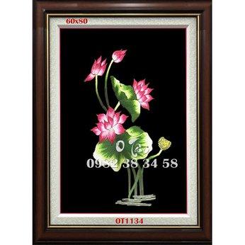 Tranh Thêu Hoa Sen OT 1134