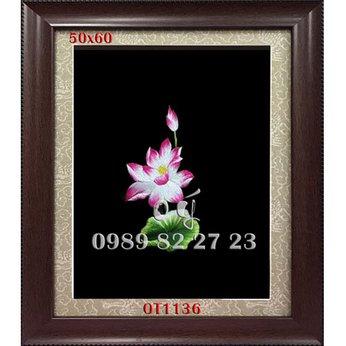 Tranh Thêu Hoa Sen OT 1136