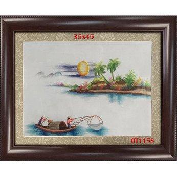 Tranh Thêu Đồng Quê OT 1158