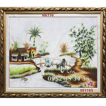 Tranh Thêu Đồng Quê OT 1165