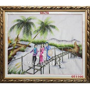 Tranh Thêu Đồng Quê OT 1166