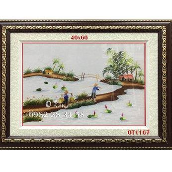 Tranh Thêu Đồng Quê OT 1167