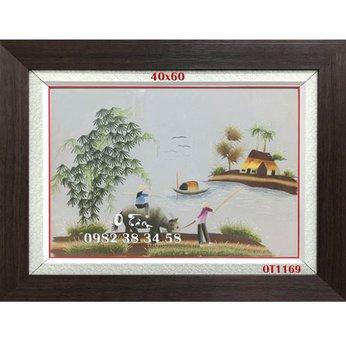 Tranh Thêu Đồng Quê OT 1169