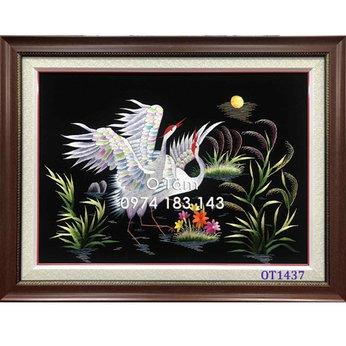 Tranh Thêu Tùng Hạc OT 1437
