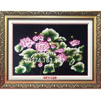 Tranh Thêu Hoa Sen OT 1120