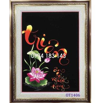 Tranh thêu tặng thầy cô OT1406