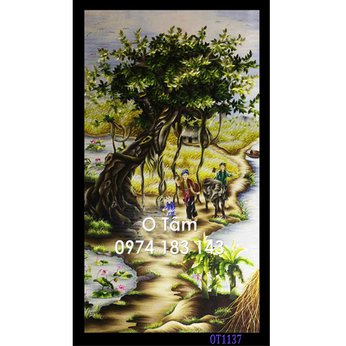Tranh Thêu Làng Quê OT 1137