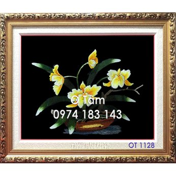 Tranh Thêu Hoa Lan OT 1128