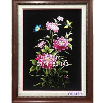 Tranh thêu hoa cúc OT 1439