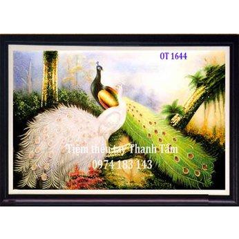 Tranh Thêu Chim Công OT 1644