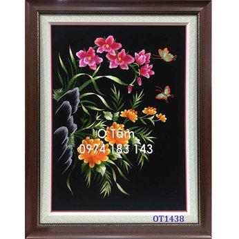 Tranh Thêu Hoa Lan OT 1438