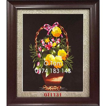 Tranh Thêu Hoa Cúc OT 1131