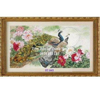 Tranh Thêu Chim Công OT 1645