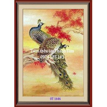 Tranh Thêu Chim Công OT 1646