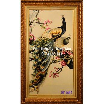 Tranh Thêu Chim Công OT 1647