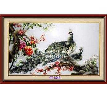 Tranh Thêu Chim Công OT 1648