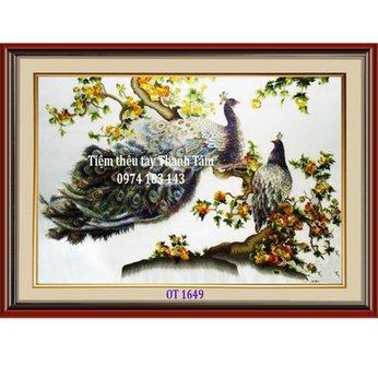 Tranh Thêu Chim Công OT 1649