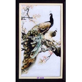 Tranh Thêu Chim Công OT 1650