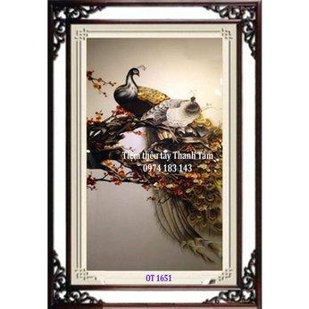 Tranh Thêu Chim Công OT 1651