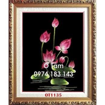 Tranh Thêu Hoa Sen OT 1135