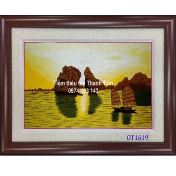 Tranh Thêu Vịnh Hạ Long OT 1619