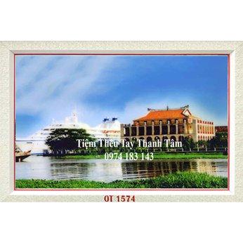 Tranh Thêu Bến Nhà Rồng OT 1574