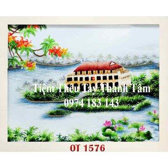 Tranh thêu Bến Nhà Rồng OT 1576