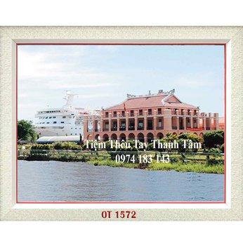 Tranh Thêu Bến Nhà Rồng OT 1572