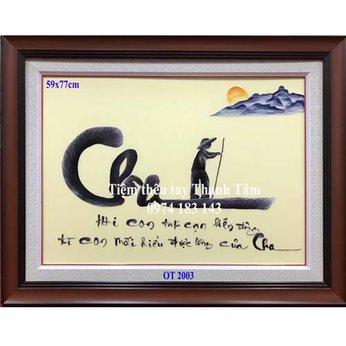 Tranh thêu tặng cha mẹ OT 2003