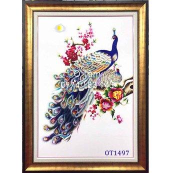 Tranh Thêu Chim Công OT 1497