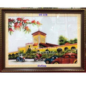 Tranh thêu chợ Bến ThànhOT 2130