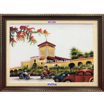 Tranh thêu chợ Bến ThànhOT 2154