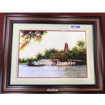Tranh thêu chùa Linh MụOT 2028