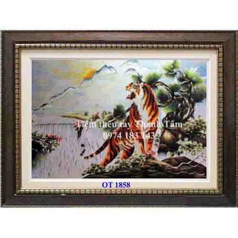 Tranh thêu con hổ OT 1858