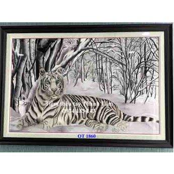 Tranh thêu con hổ OT 1860