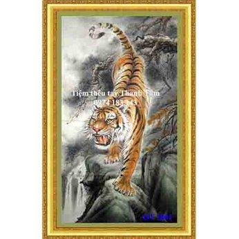 Tranh thêu con hổ OT 1861