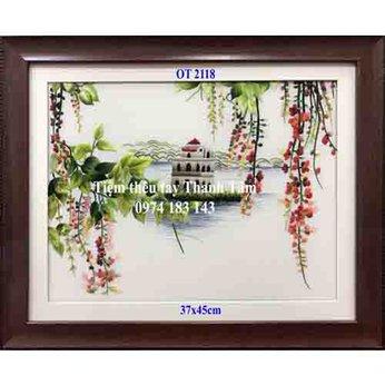 Tranh thêu hồ Gươm OT 2118