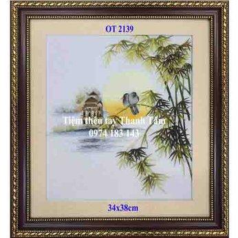 Tranh thêu hồ Gươm OT 2139