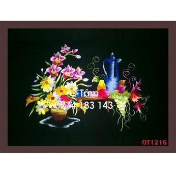 Tranh thêu hoa cúc OT 1216