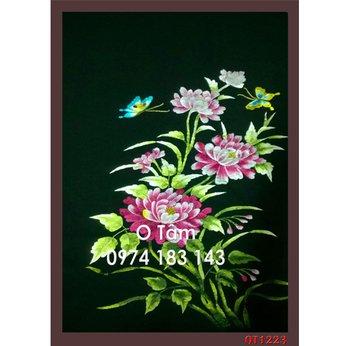Tranh thêu hoa cúc OT 1223