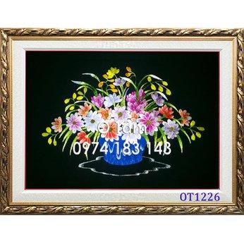 Tranh thêu hoa cúc OT 1226