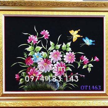 Tranh thêu hoa cúc OT 1463