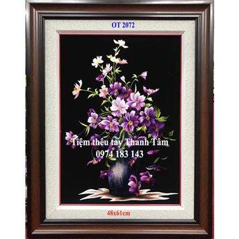 Tranh thêu hoa cúc OT 2072