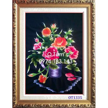 Tranh thêu hoa hồngOT 1335