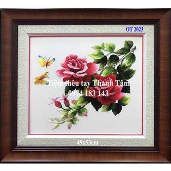 Tranh thêu hoa hồngOT 2023