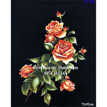 Tranh thêu hoa hồngOT 2061