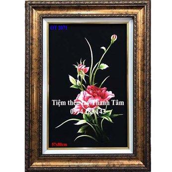 Tranh thêu hoa hồngOT 2071