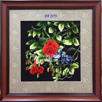 Tranh thêu hoa hồngOT 2173